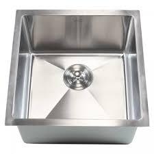Single Kitchen Sinks Ariel 18 Inch Stainless Steel Undermount Single Bowl Kitchen Bar