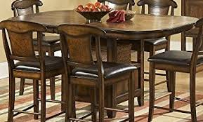 7 piece counter height dining room sets amazon com homelegance westwood 7 piece counter height dining room