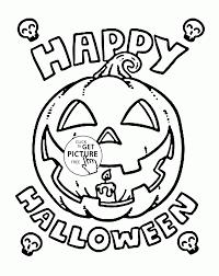 happy halloween pumpkin coloring pages kids halloween