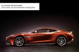 rose gold aston martin all the cars that go 200 mph