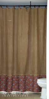 Design Shower Curtain Inspiration Astonishing Burlap Shower Curtain With Grommets U Design For