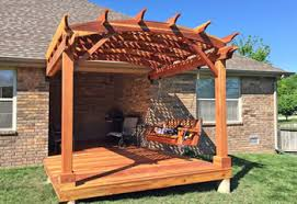 Prefab Pergola Kits by Pergola Kits Shop Redwood Garden Pergola Kit