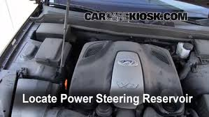 hyundai elantra power steering fluid check power steering level hyundai genesis 2009 2014 2009