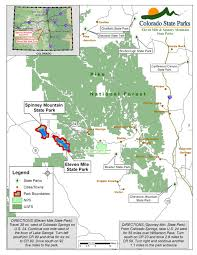 Colorado State Map by Eleven Mile State Park Lake George Colorado State Parks