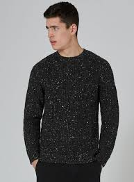 fisherman sweater premium charcoal gray fisherman sweater topman usa