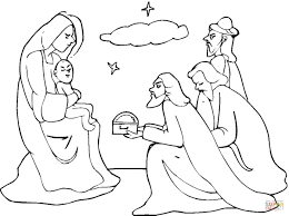 three wise men came to see jesus coloring page free printable