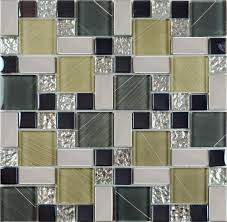 Wall Stickers And Tile Stickers by Crystal Glass Tile Sheets Hand Painted Kitchen Backsplash Tile