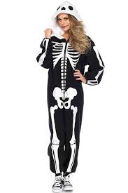 skeleton costume cozy skeleton onesie in black with front skeleton print in white