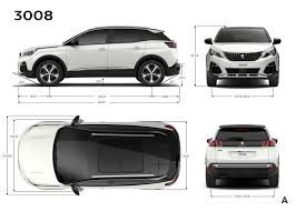peugeot suv 2016 new peugeot 3008 2016 crossover suv dimensions length width and