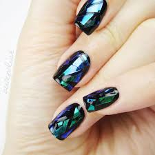 30 cutest nails this year shattered glass nails and nail trends