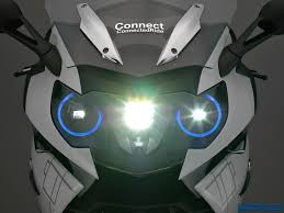 future bmw motorcycles bmw u0027s space age hud helmet and laser light on the k1600 gtl shows
