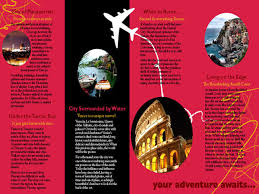 example of a travel brochure lascala me