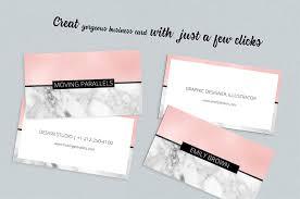 Mini Resume Business Card Rose Gold Pink Foil Marble Business Car Design Bundles