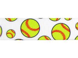 softball ribbon softball ribbon 7 8 inch grosgrain