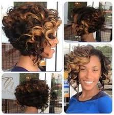 pictures of mixed race a line bobbed hair curly a line bob with a shorter back and longer front hair