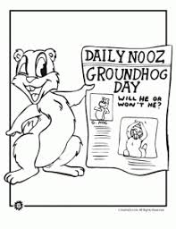 groundhog day coloring pages animal jr