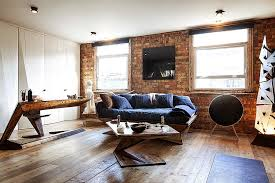 London Flat Interior Design Exposed Brick Walls Meet Sustainable Modern Design In Splendid
