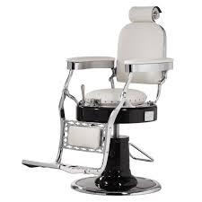 fauteuil de barbier blanc