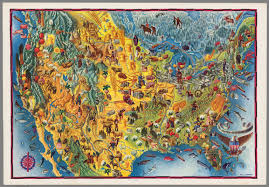Map Of States Of America by United States Of America Covarrubias C A A A Map Of America