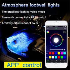 Car Interior Leds Car Decorative Lights Interior Foot Mood Light 12 Led With Phone
