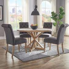 gray dining room table gray dining chairs kitchen dining room furniture the home depot