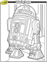 star wars r2d2 coloring crayola