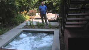 Backyard Pool Pictures Spa In Built In Brooklyn Backyard By Mill Bergen Pools Youtube