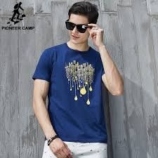 Comfortable T Shirts Pioneer Camp 2016 New Fashion Summer T Shirt Men O Neck Cotton