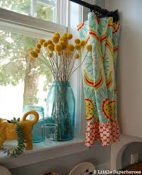 Blue Window Curtains Boring To Blue Kitchen Makeover Kitchens And Kitchen Design