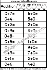 addition u2013 basic addition facts free printable worksheets