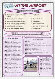 english teaching worksheets at the airport at the airport