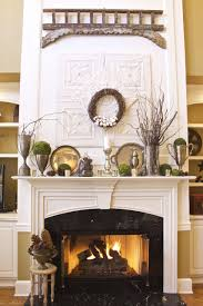 winter mantel decor 2 bees in a pod