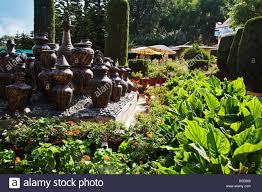 decorative urns decorative urns in a park peace park mount abu sirohi district