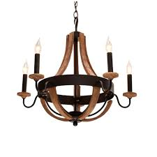 Home Depot Chandelier Lights Hampton Bay Talo 5 Light Driftwood Chandelier 27215 The Home Depot