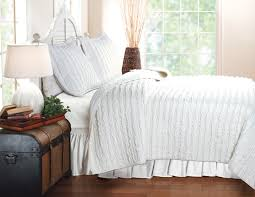 Ruffle Bed Set Greenland Home Fashions Bella Ruffle White Bedding Set