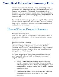 5 free sample executive summary template for customer support