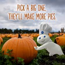 the doughboy has some thanksgiving words of wisdom for you