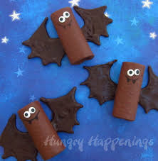 Bat Cookies For Halloween by Chocolate Snack Cake Bats Hungry Happenings Halloween