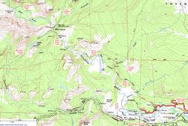 Griffith Park Map Topographic Map Of The Glen Aulin Trail Yosemite National Park