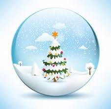 christmas house snow globe png clip art image inverno