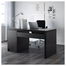 White Desk Malm Desk Black Brown Ikea