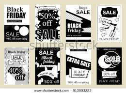 black friday advertising ideas collection retro movie poster design concepts stock vector