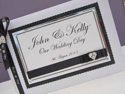 black wedding guest book wedding ideas personalised wedding guest book black white p