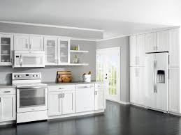 floor and decor cabinets modern white kitchens elier above black painted wooden kitchen