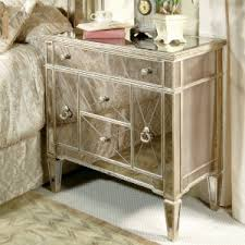 Silver Mirrored Nightstand Bedroom Modern Silver Mirrored Nightstand For Bedroom Decor