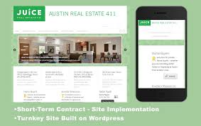 web design new real estate blog taproot services