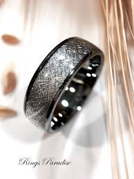 wedding ring indonesia meteorite rings wedding bands his and matching rings