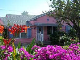 photos of homes in shades of pink and red