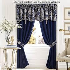 imperial indigo blue window treatment by croscill