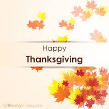 happy thanksgiving day vector background by 123freevectors on
